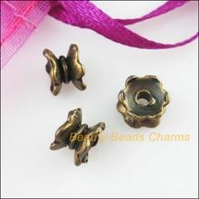 Nowy 50 sztuk Antiqued kolor brązowy kwiat lotosu koniec koralik czapki złącza 5x7mm