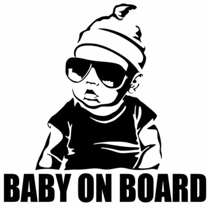 YJZT 15.5*15.2CM BABY ON BOARD Creative Fashion Car Sticker Tail Warning Sign Decal C4-0891