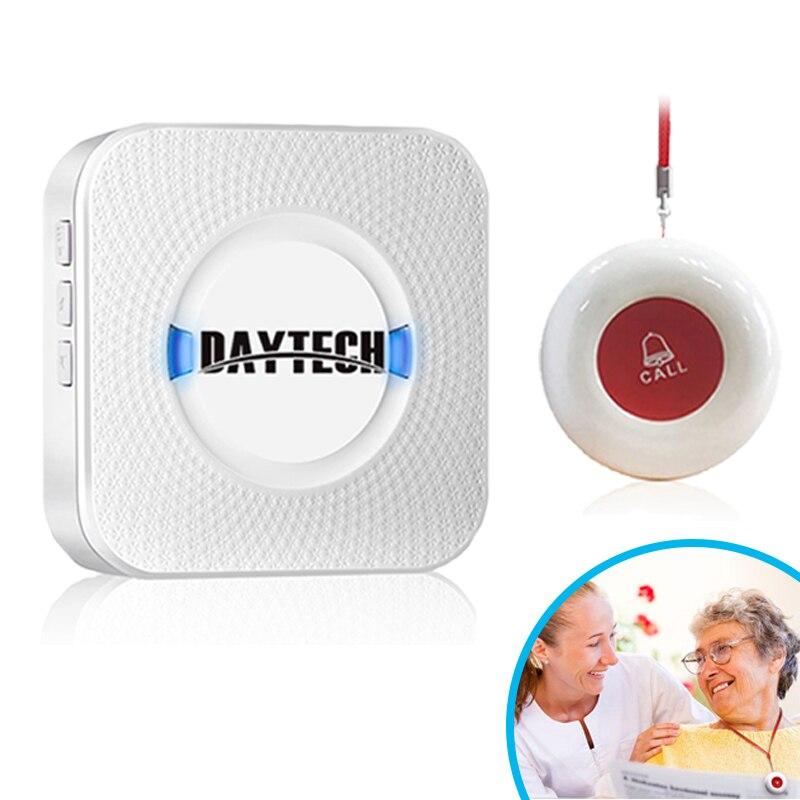 Kit de ALARMA DE SEGURIDAD PARA EL HOGAR inalámbrico DIY ayuda de emergencia para ancianos ayuda al paciente sistema de llamada de emergencia alarma para ancianos