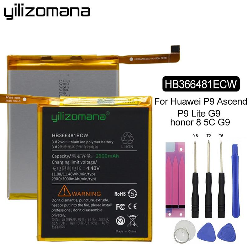 YILIZOMANA Phone Battery HB366481ECW for Huawei honor 8 9i 9 lite 5C 7C 7S 7A 8 8E V9 Play Ascend P9 P10 G9 Lite Nova Lite 3E