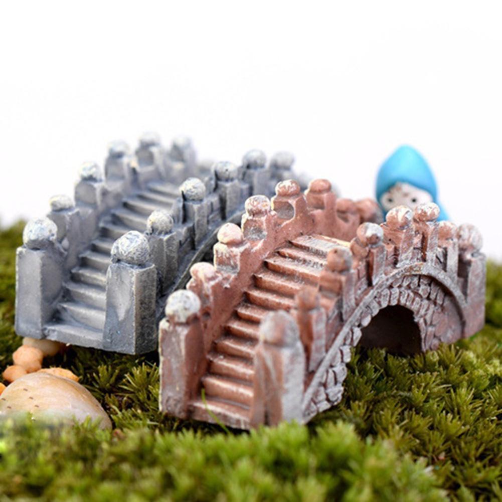 2 pçs retro arco ponte aquário tanque de peixes micro paisagem ornamentos em miniatura