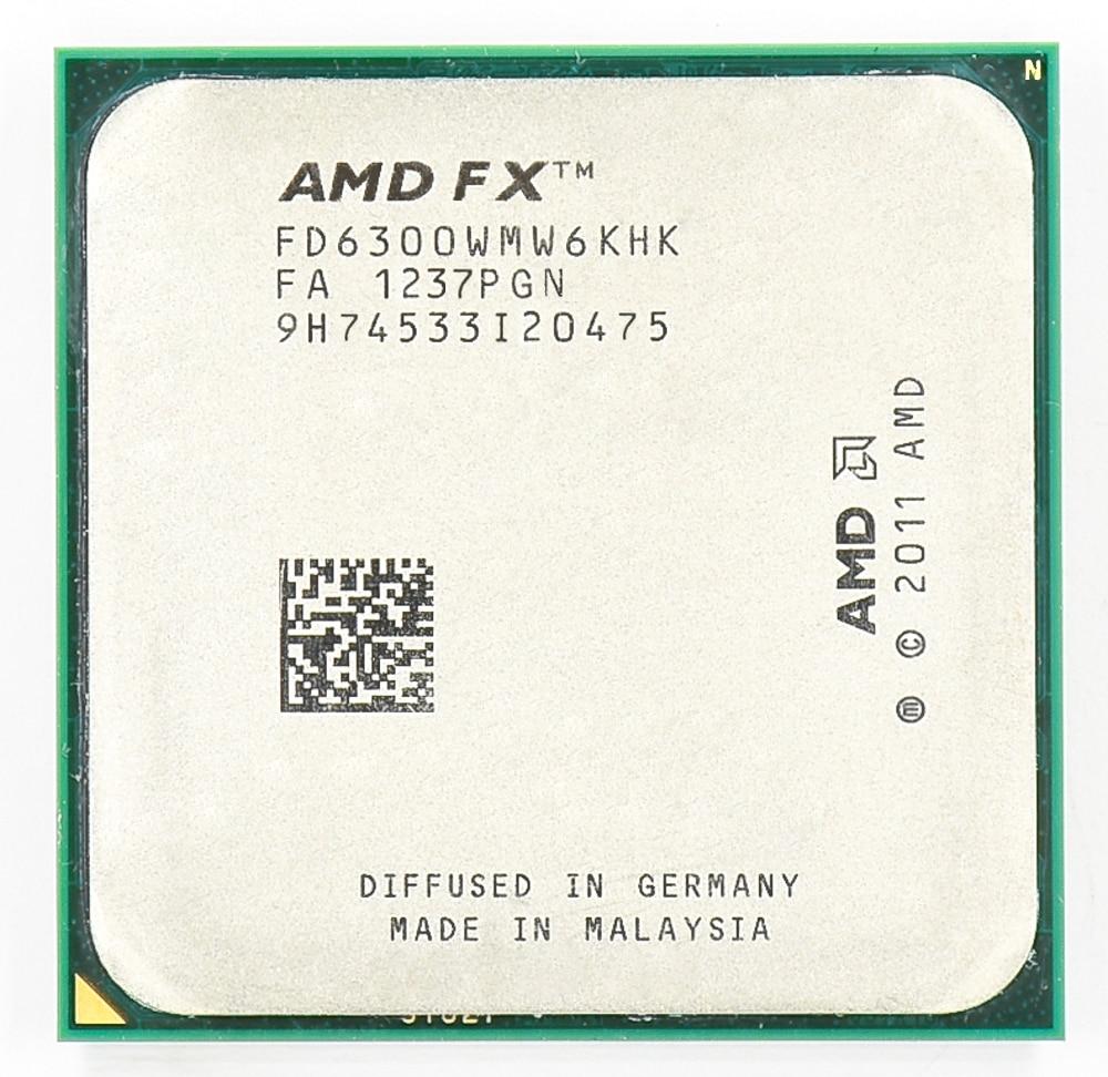 AMD FX 6300 AM3 + 3,5 GHz/8 MB/95 W 6 Core CPU procesador