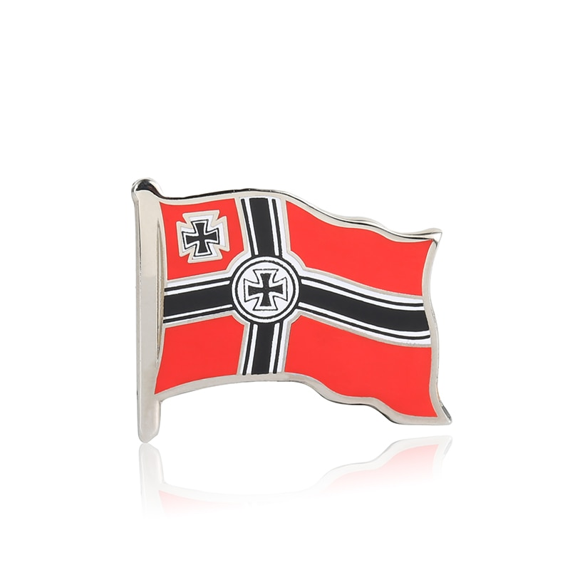 WW2 WW1 German Empire flag Pin Cross Enamel Badge Brooches