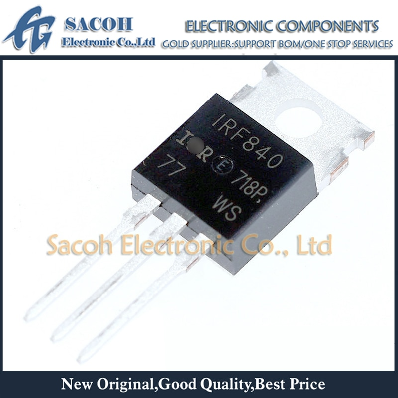 Frete grátis 10Pcs IRF840 IRF840A IRF840B IRF841 IRF842 IRF843 PARA-220 8A 500V Potência MOSFET