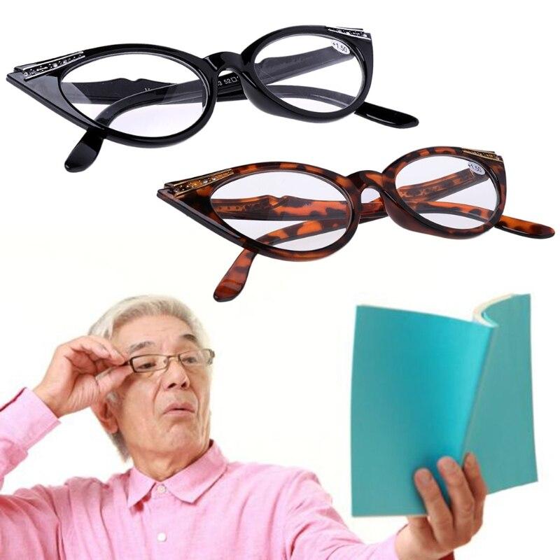 Women Cat Eye Reading Glasses Presbyopic Eyeglass Spectacles Resin Len +1.0~+3.5