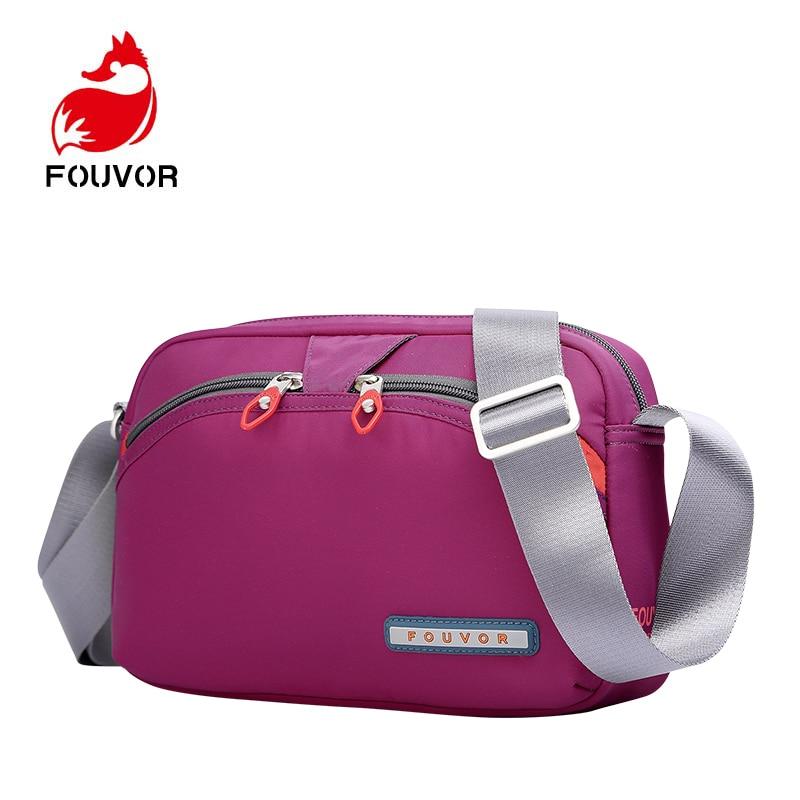 Fouvor New Women Messenger Bags for Women Waterproof Nylon Handbag Female Shoulder Bag Ladies Crossbody Bags bolsa sac a main