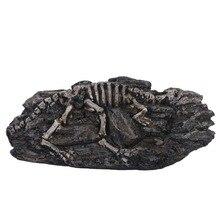 Jurassic parque animal dinossauro fóssil crânio fantasia criativo figura de ação brinquedos esqueleto modelo decoração coleção ornamentos aquário