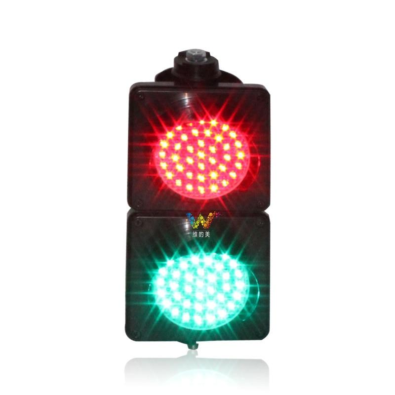 Dc12v roadway segurança 100mm semáforo com lente cobweb plástica