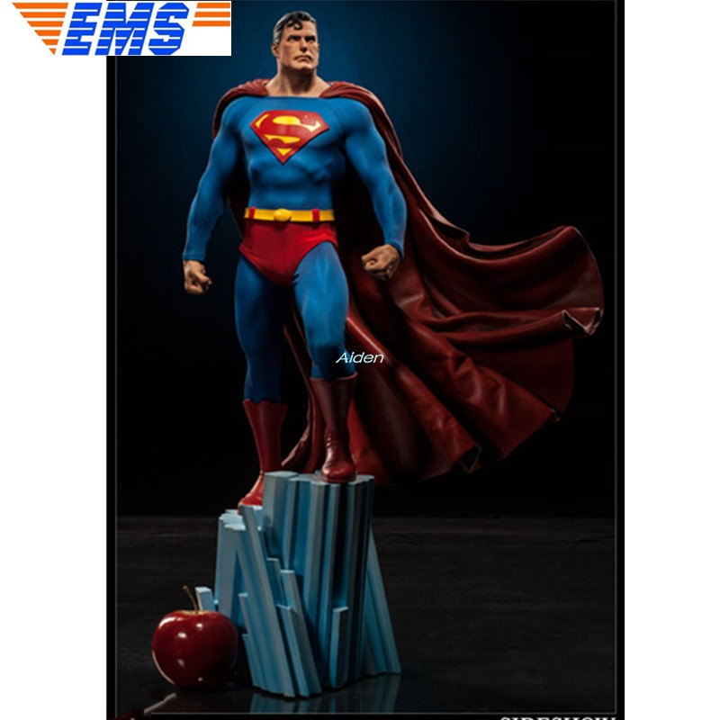 "26 ""estatua de superhéroe Liga de la justicia Superman busto kal-el retrato de longitud completa PF Clark Kent GK figura de acción caja de juguete 65CM B1049"