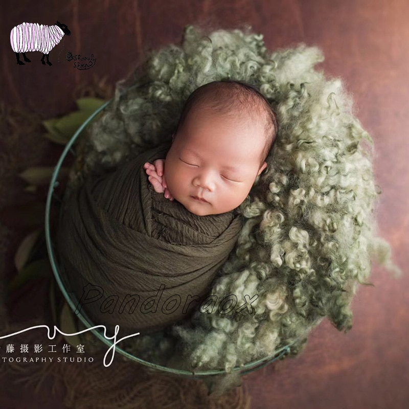 High Quality Newborn Baby Photography Wool Blanket Props bebe fotografia Posing Accessory Baby Girl Boy Photo Shoot Blanket Prop