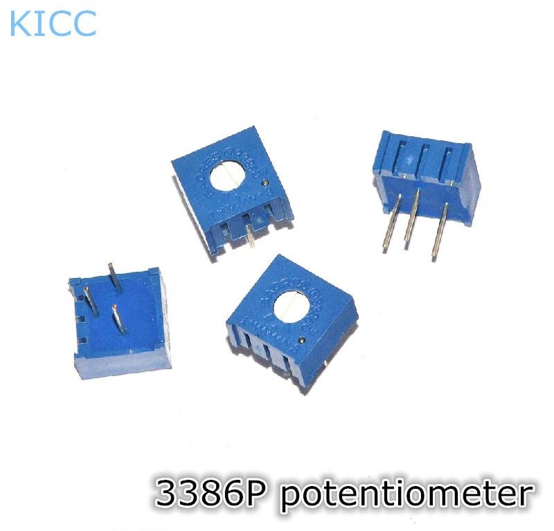 3386 P 103 10K potenciómetro de precisión ajustable 3386 P103 potenciómetro-A (10 unids/lote)