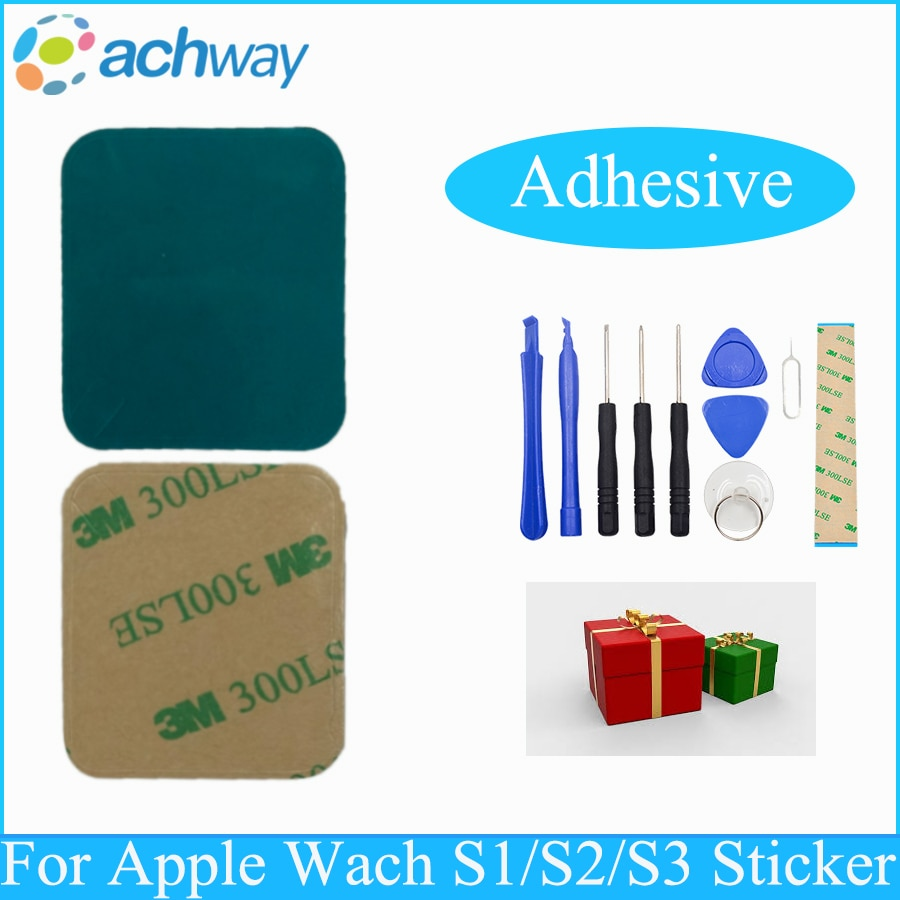 Adhesivo frontal LCD, 2 unidades por lote, cinta adhesiva para reparación de pantalla para Apple Watch Series 1, 2, 3, 42mm/38mm