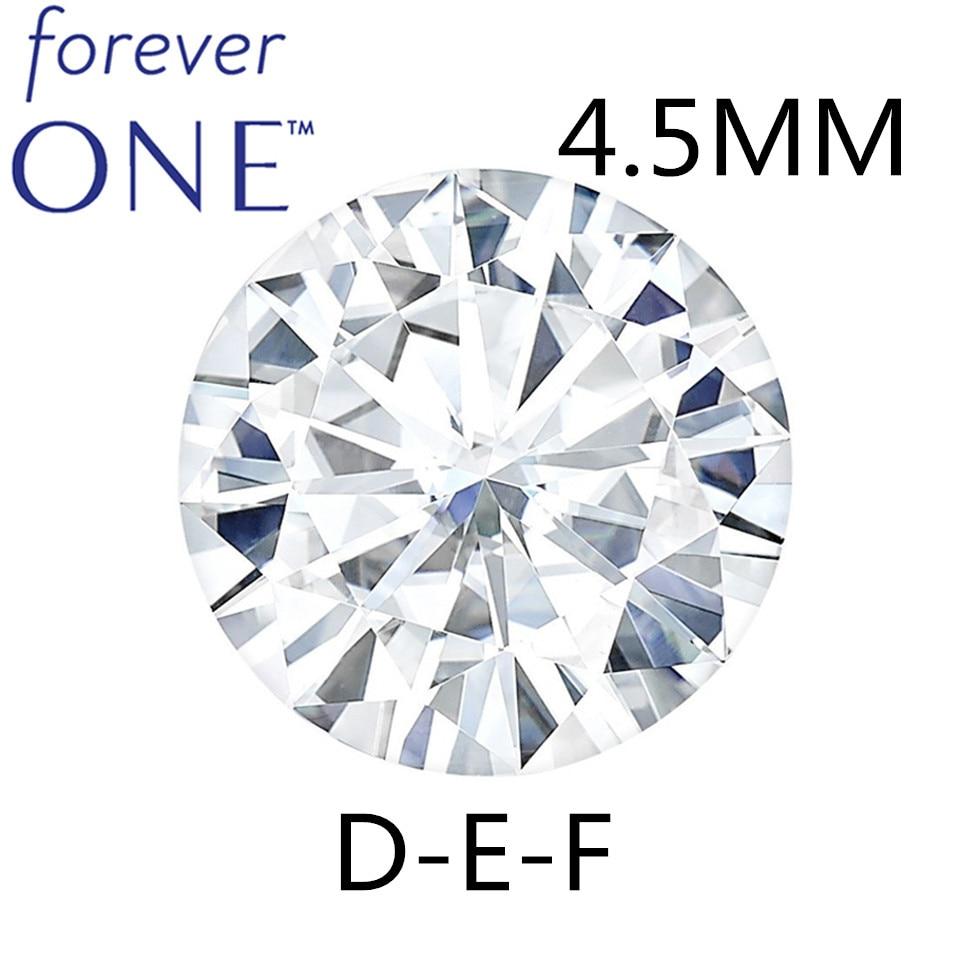 4.5 مللي متر 0.29CT VVS VS دف ممتاز قص مستدير أبيض للأبد واحد مويسانيت فضفاض حجر