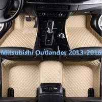 high quality car custom foot mats 3d luxury leather car floor mats fits for mitsubishi outlander 2013 2014 2015 2016