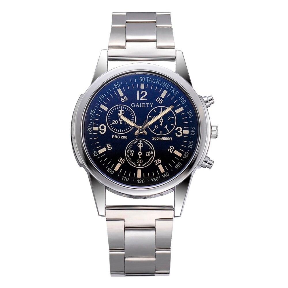 Relógio masculino para homem relógios de quartzo relógio de pulso blu ray vidro zegarek meski montre relojes hombre masculino horloges mannen
