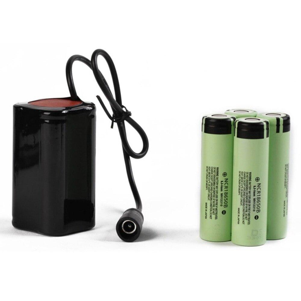 8.4 V USB Rechargeable 6400 mAh batterie au Lithium 4x18650 batterie paquet 3 heures mettre en évidence T6 lumière LED lampe frontale de vélo livraison directe