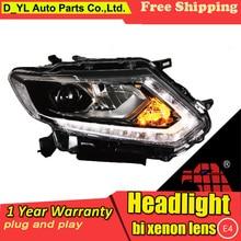 Nissan x-trail phares phares   Coiffage de voiture 14-16 X-Trail, lampe frontale led drl phare de projecteur H7 hid lentille bi-xénon