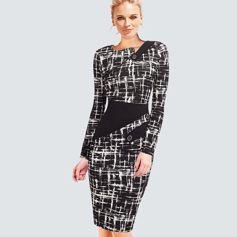 Vestido elegante de talla grande para el trabajo para mujer, vestido de oficina de negocios, Túnica informal, ceñido al cuerpo, vestido entallado Formal B63 B231