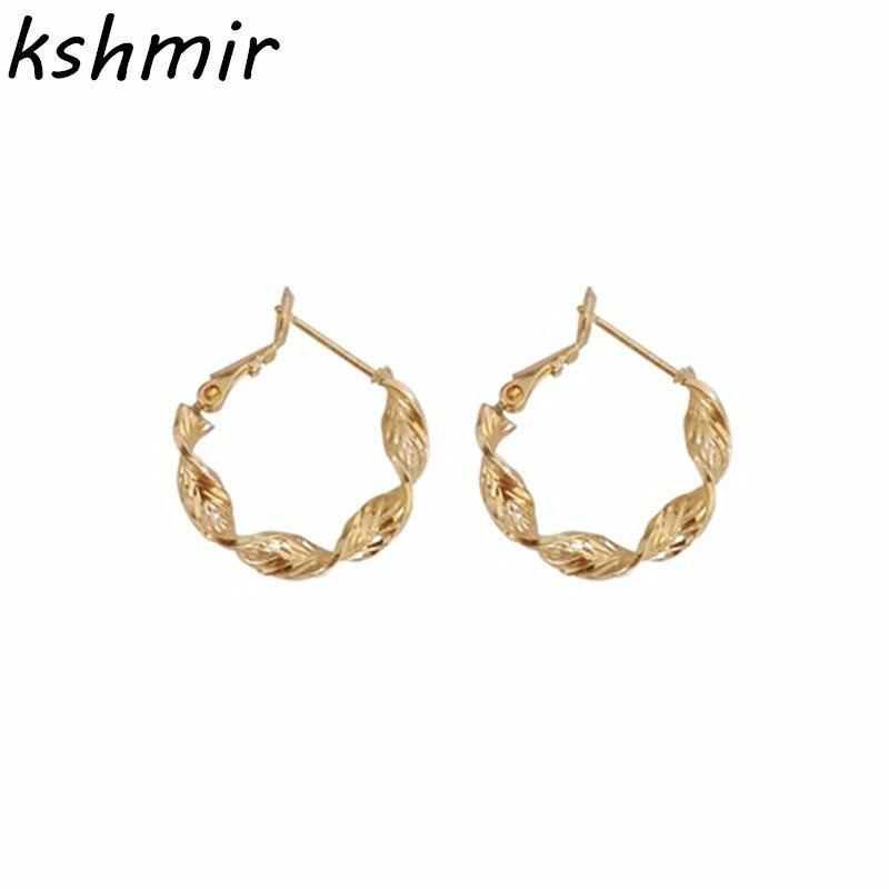 2018 fashion geometry fine round earrings popular women temperament earrings  wholesale