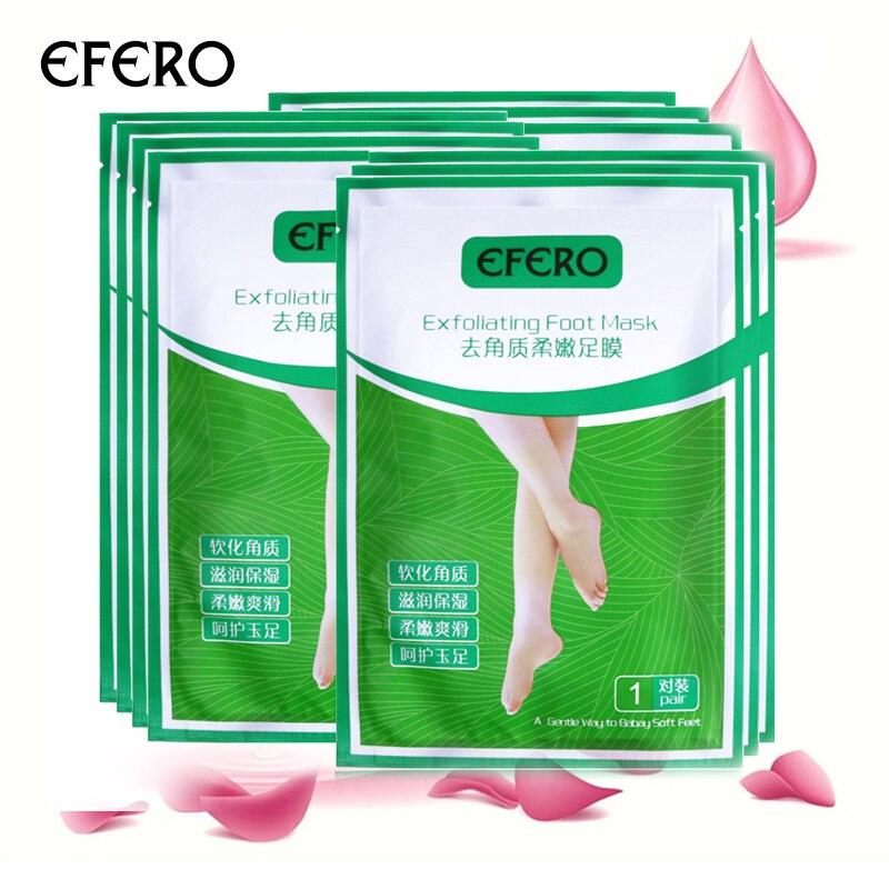3packs EFERO Foot Peeling Mask Exfoliating Foot Masks Cuticle Remover Sosu Socks For Pedicure Spa Feet Mask for Foot Cream