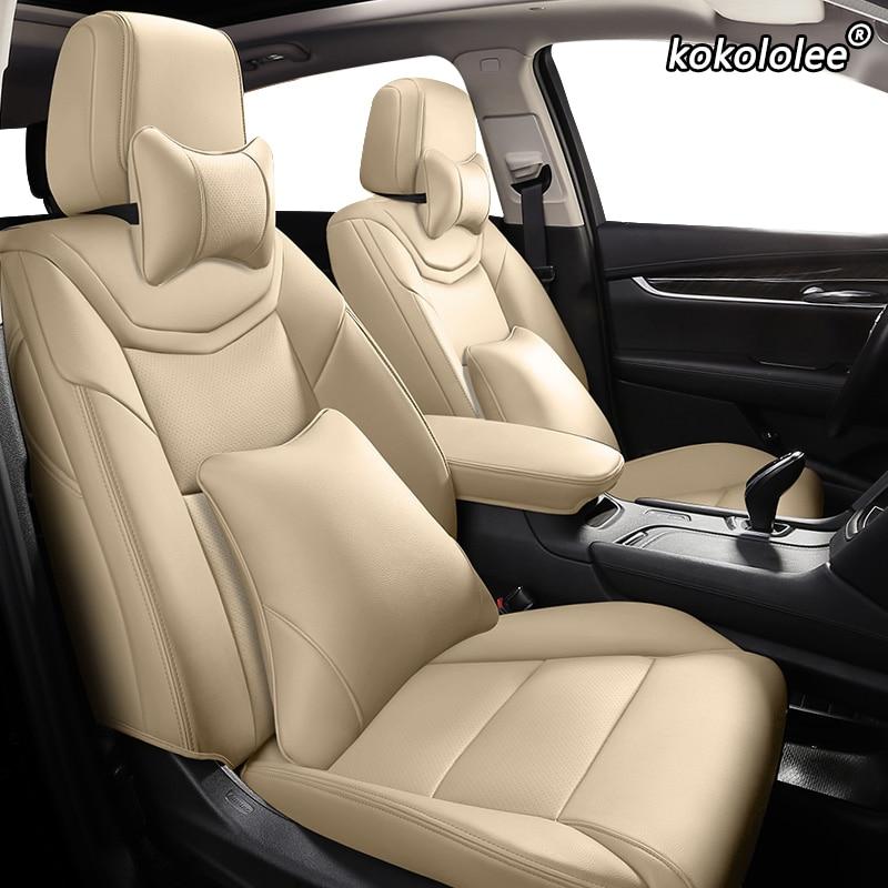 kokololee Custom Leather car seat covers For PEUGEOT 206 207 301 307 408 308 308s 508 3008 2008 4008 5008 407 607 car seats