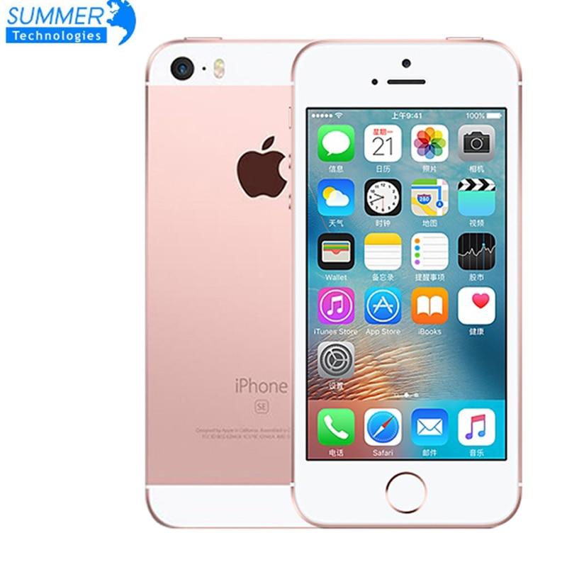 "Get Fingerprint Apple iPhone SE Mobile Phones celular Original Unlocked Smartphone A9 Dual-core 4G LTE 2GB RAM 16/64GB ROM 4.0"""
