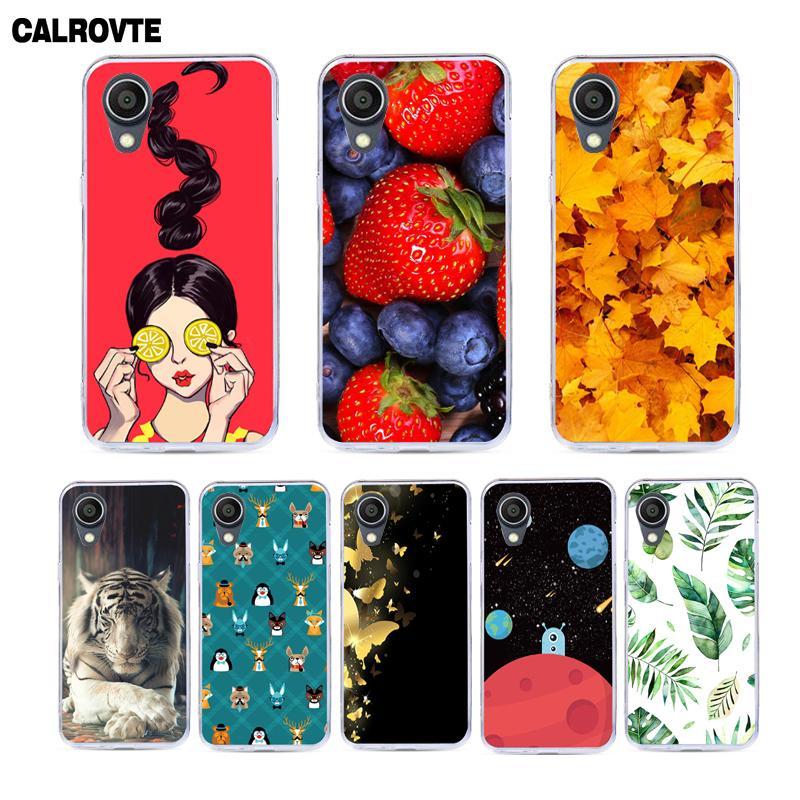 Calrovte pintado capa do telefone para alcatel 1 5033d caso para alcatel 1 5033d 5033 5033a 5033y 5033x5.0 polegada casos de silicone macio