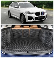 for bmw x3 g01 g08 2018 2019 full rear trunk tray liner cargo mat floor protector foot pad mats embroidery leather