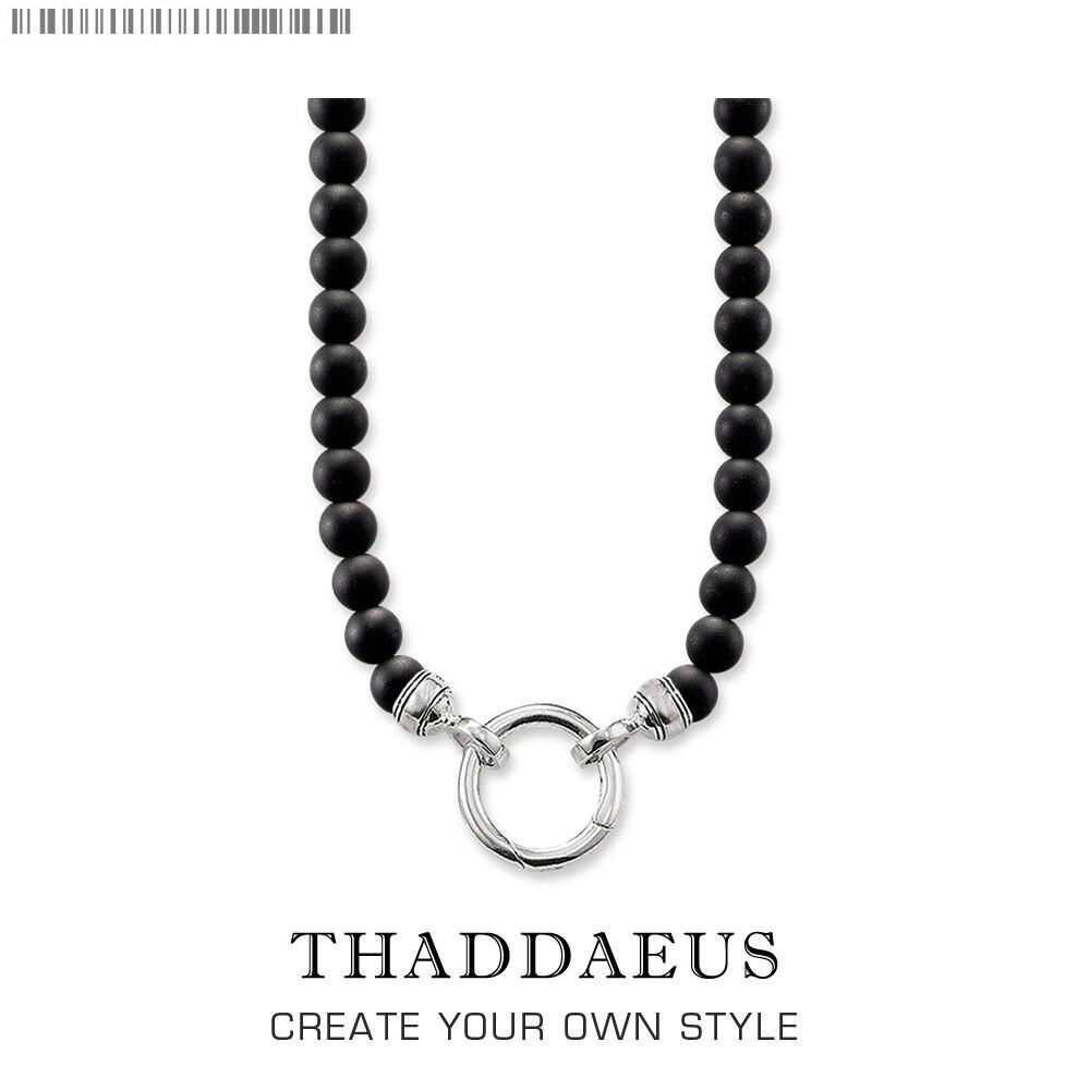 Collar de cuentas obsidiana, 2017 Nuevo Ts Strand joyería de moda estilo Thomas Rebel Bijoux regalo para hombres y mujeres amigo
