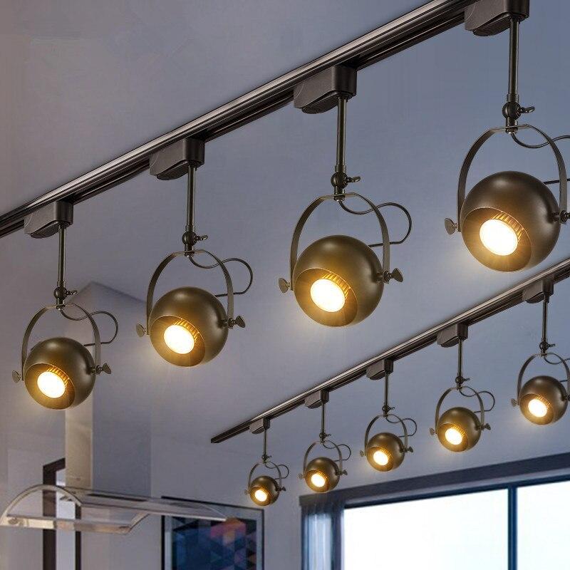 Iluminación de pista moderna, lámpara LED de techo, luces de pista, focos girados para ventanas de interior, accesorios de iluminación para el hogar