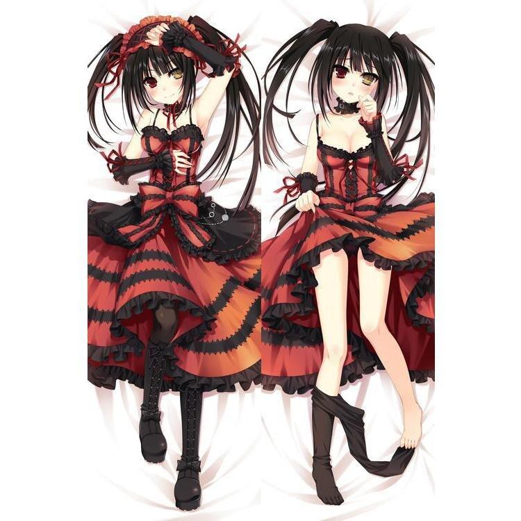 Caracteres japoneses Anime Data A Vivo Tokisaki Kurumi Lance Otaku Presentes Cama Dakimakura Abraça O Travesseiro de Corpo Caso 150x50 CM