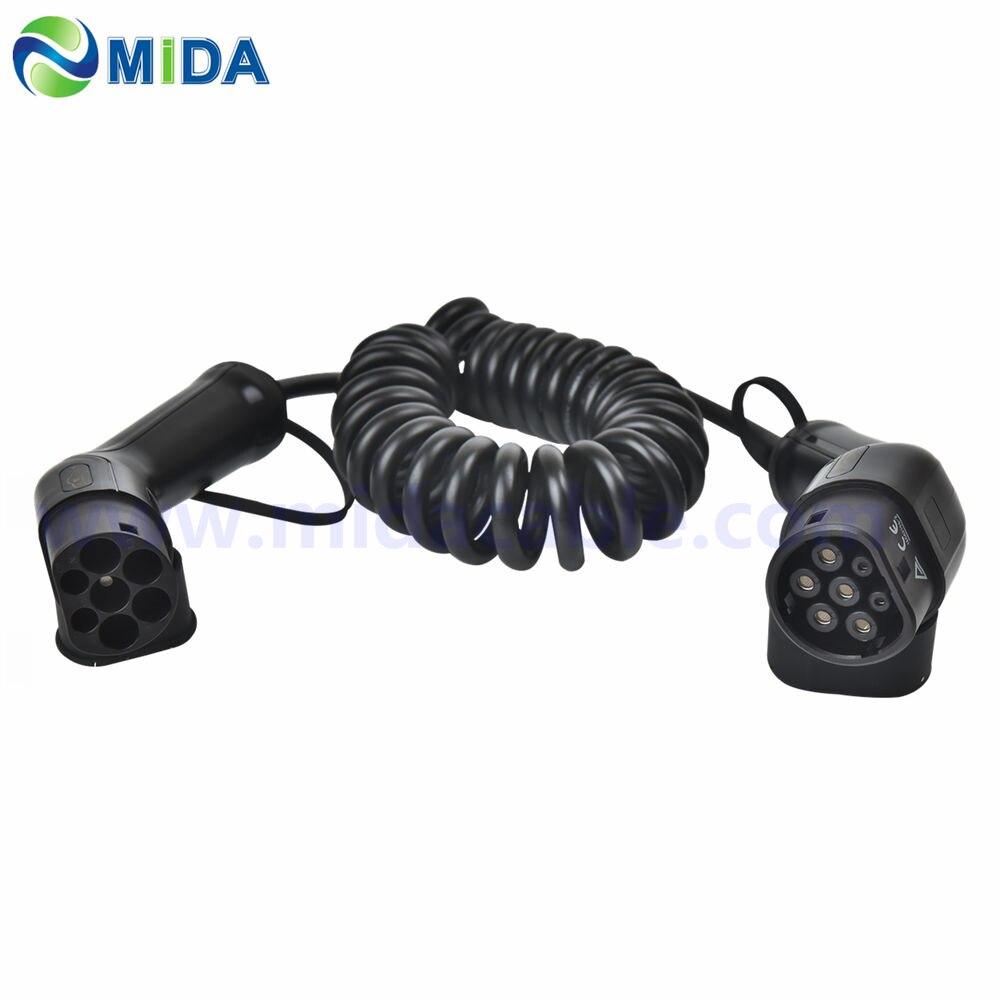 16a 32a tipo 2 para tipo 2 portátil ev cabo de carregamento iec 62196 uso doméstico