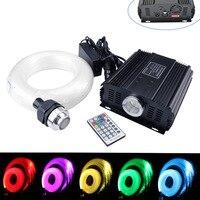45W RGB DMX 512 LED Fiber Optic Star Sky Ceiling Kit Light 835strands(0.75+1+1.5mm)*5M with 28key RF remote