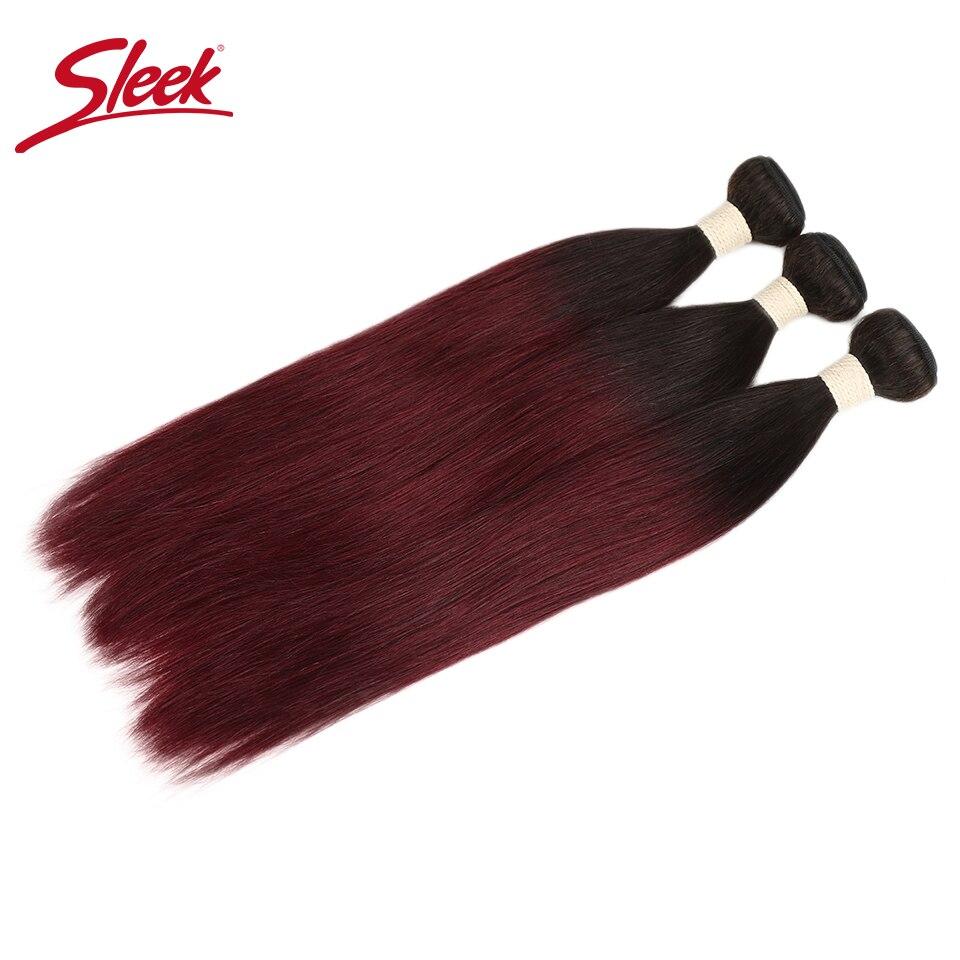 Sleek Peruanische 2 Ton Colo Ombre T1B/99J Farbe Haar Weave1/3/4 Bundles Gerade Menschenhaar Verlängerung Für freies Verschiffen Keine Remy