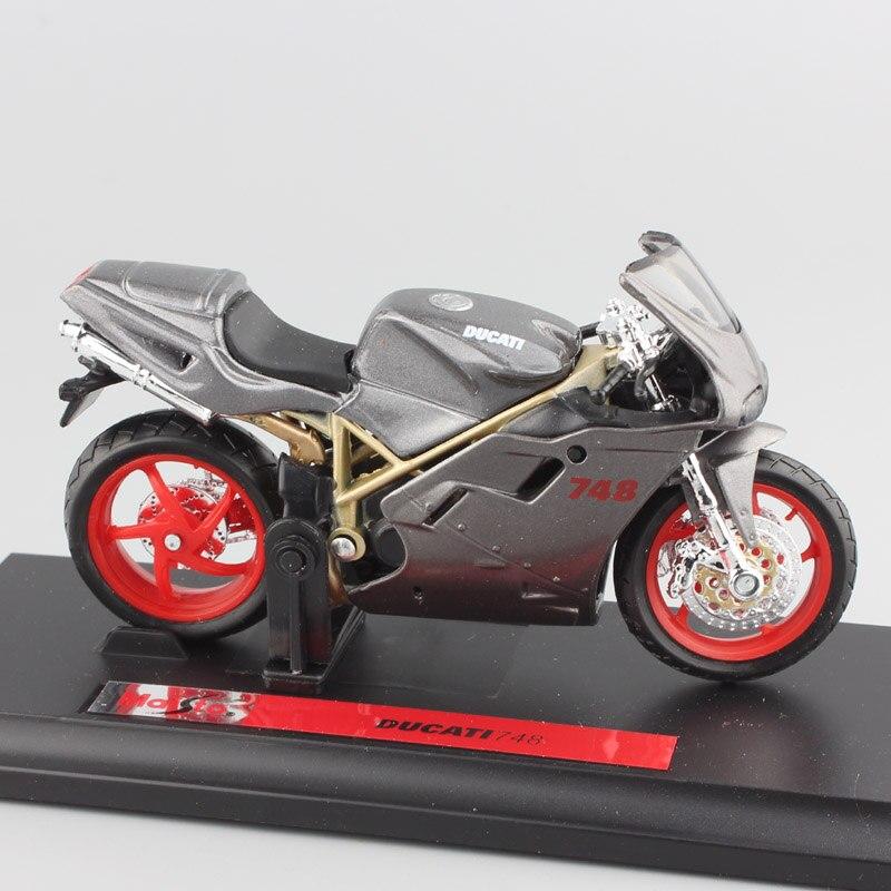 Escala 118, marca ducat 748, bicicleta deportiva, bicicleta de calle, motocicleta, motor de metal, diecast, deporte, carreras, motocicleta, modelo de coche, juguetes para niños