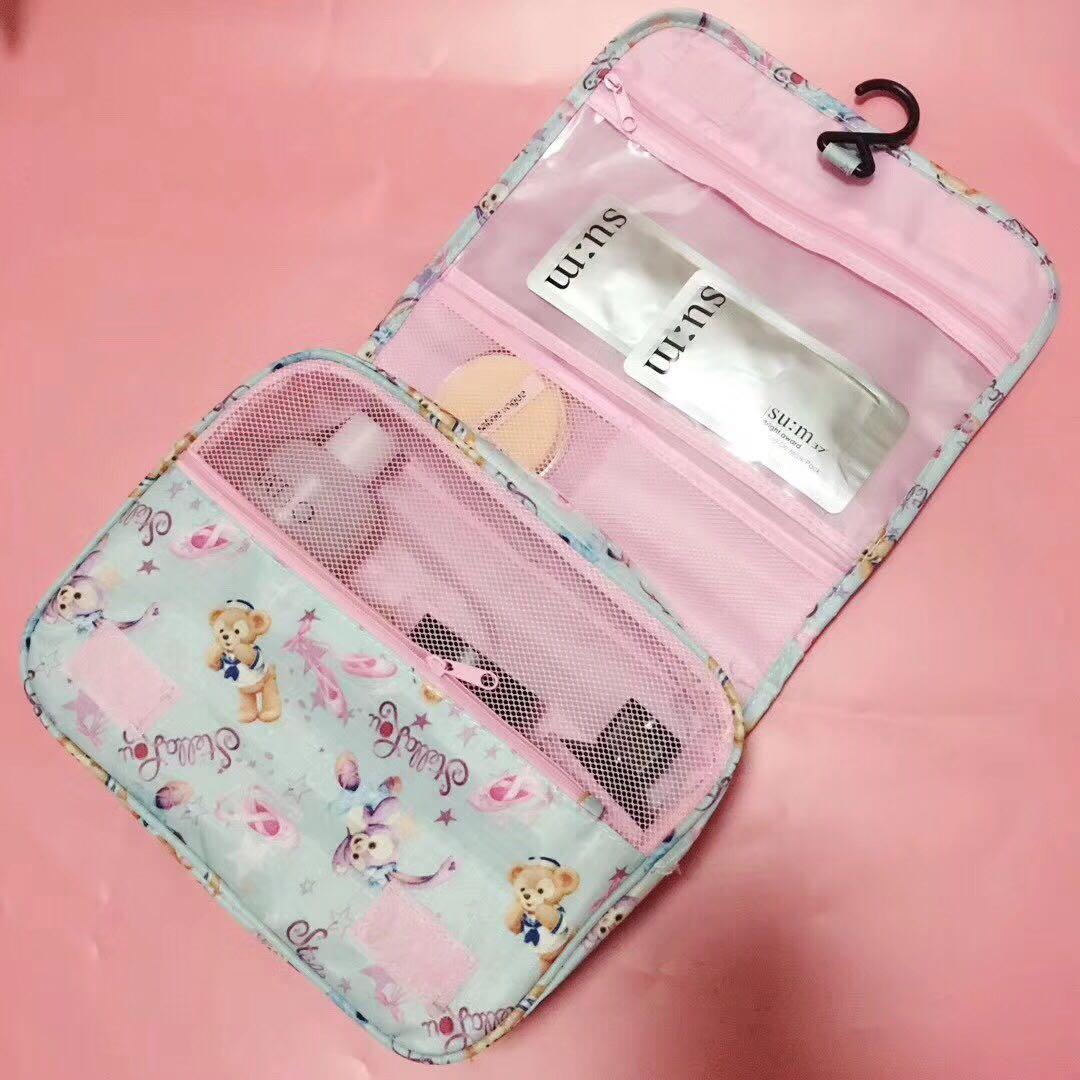 Japan Cartoon Cute Duffy Bear Friends Stellalou Rabbit Cosmetic Bag Wash Bags Plush Pouch Duffy Bear Bag Storage Bag