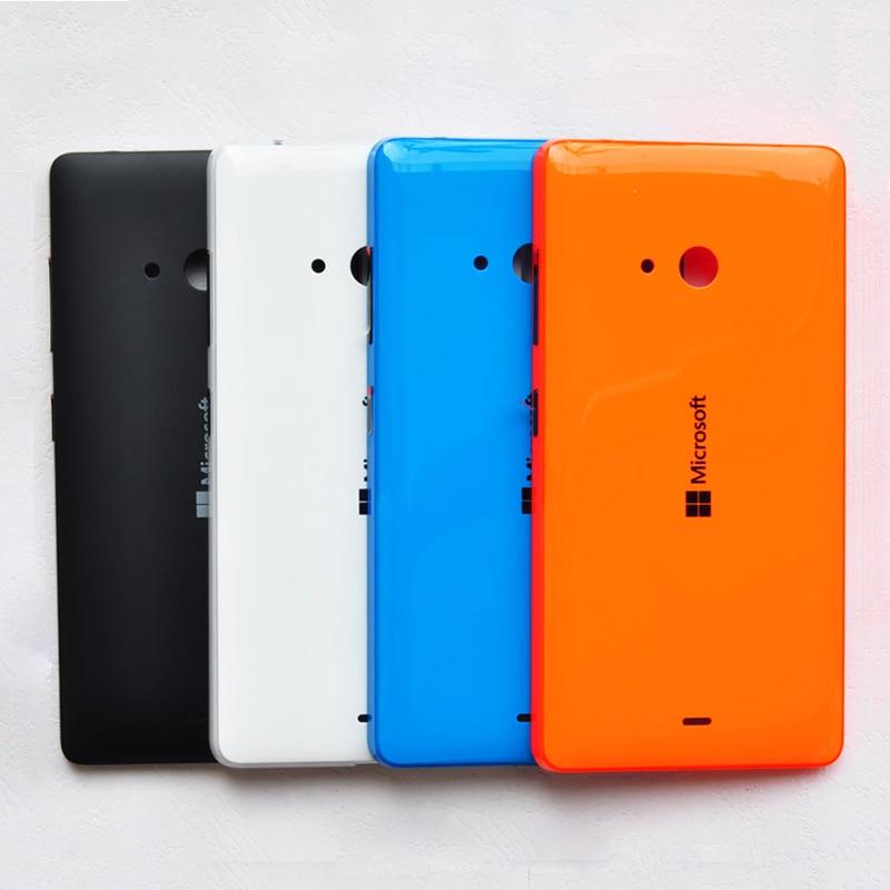 ZUCZUG, nueva carcasa trasera de plástico Original para Microsoft Nokia Lumia 540, carcasa trasera para batería con botones laterales, pieza de reparación 540