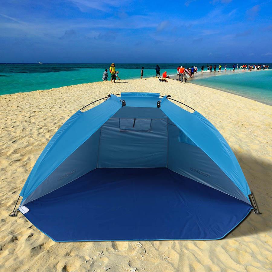Carpas de playa plegables para exteriores, toldo para protección UV, tienda ultraliviana para pesca, Picnic, parque, herramientas para exteriores