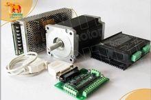 WT86STH118-6004A 8.7N.m Nema34 1 Eixo Wantai Motor de Passo 1232 oz 5.6A + Driver DQ860MA 80 v 7.8A 80 v 256 micro KIT de Laser CNC TOUNTER