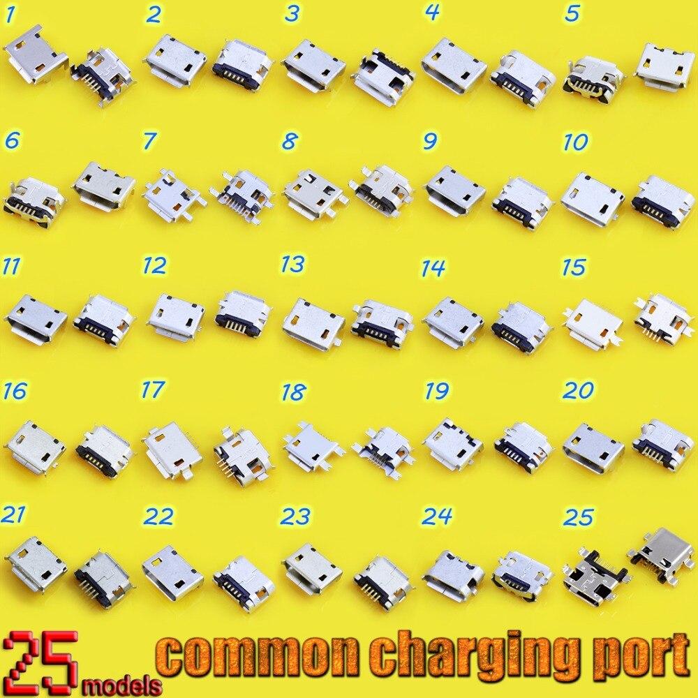 25 modelo micro conector usb jack porto de carregamento tomada 5pin celular tablet pc mid para samsung para motorola para nokia...
