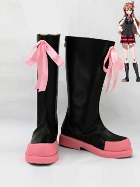 ¡Akame Ga matar! Botas de Cosplay Chelsea, zapatos para mujer, traje de Cosplay, zapatos de fiesta, botas hechas a medida