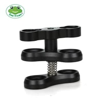 seafrogs aluminum alloy clamp ball joint bracket arm two section holder diving essential accessory light combination fixed clamp