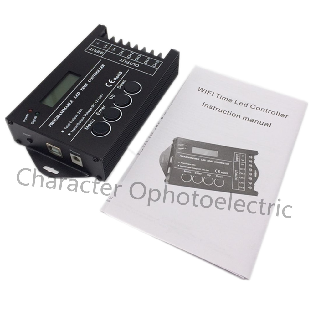 5pcs TC421 WiFi time programmable led controller RGB dimmer rgb lighting timer, DC12~24V input, 5 channels,max 5*4A enlarge