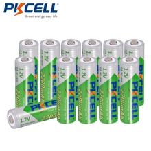 12 x PKCELL Bateria Recarregavel AA NiMH faible autodécharge Durable 1.2V 2200mAh Ni-MH batterie Rechargeable Batteries 2A Bateria