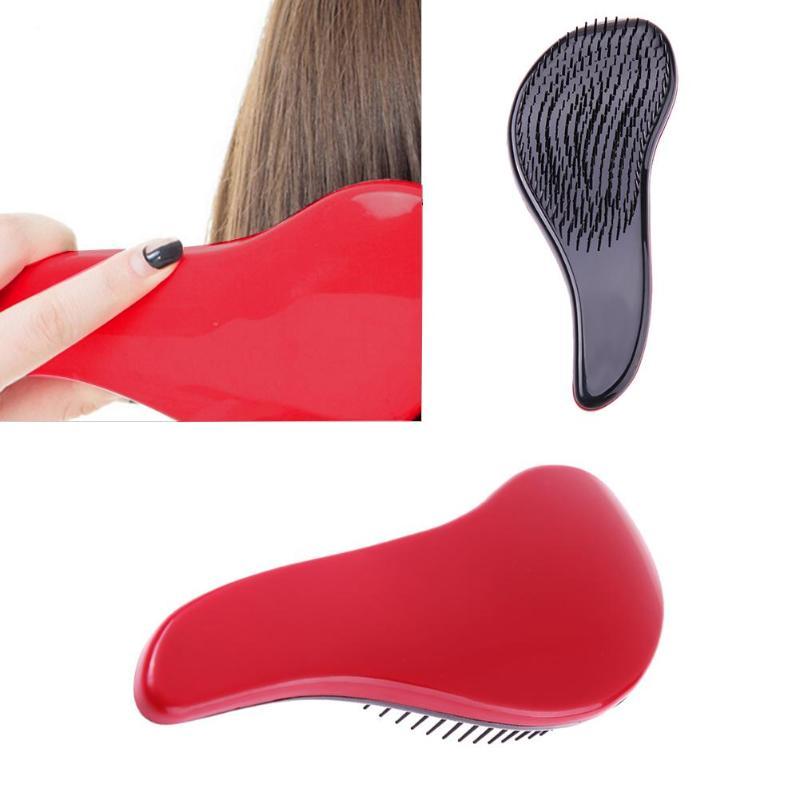 1 шт., Модная Портативная Антистатическая расческа для массажа волос, расческа для укладки, инструменты для красоты, расческа для волос с руч...