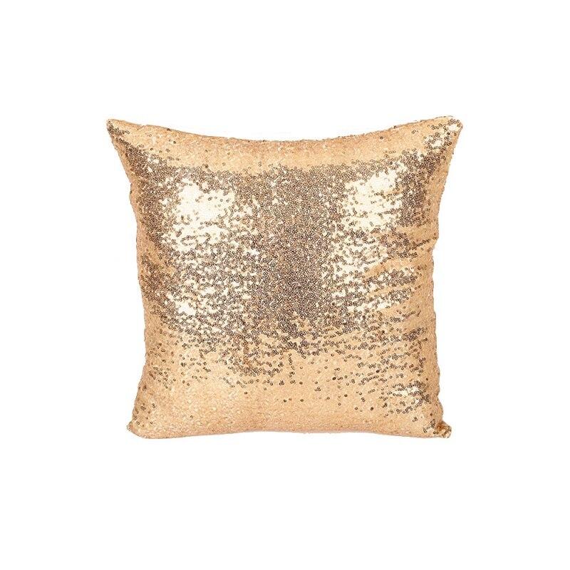 Sequin Beaded Cushion Pillow Home Decor Color Glitter Quare Golden Throw Pillow Cafe Home Decor Cushion  Cotton