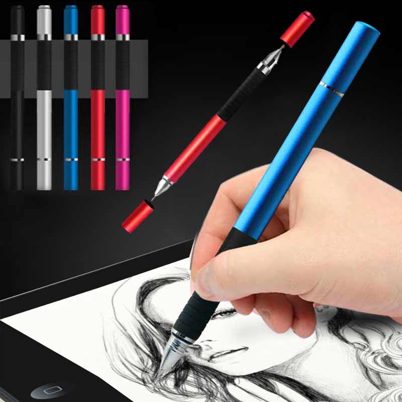 Bolígrafo 2 en 1, bolígrafo táctil capacitivo de Metal para pantalla táctil, iPhone iPad Tablet EM88