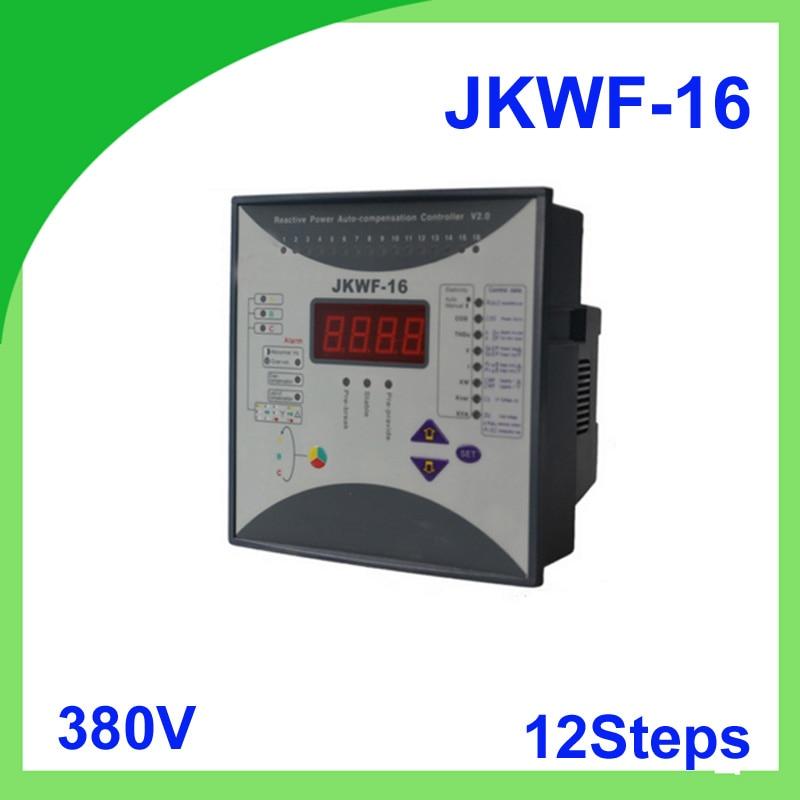 Reactive power automatic compensation controller RPCF3-16 JKWF-16 12steps 380V  50/60Hz reactive power compensation controller