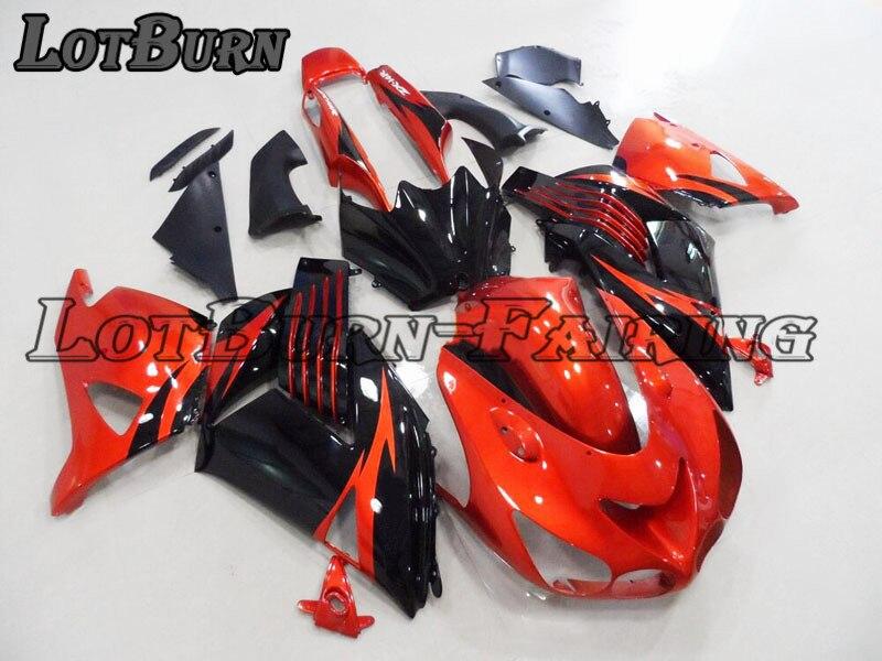Rojo Kit de carenado de Kawasaki ZX12R ZX-12R ZZ-R1400 2006-2011 06-11 carenados de carrocería de moto 004