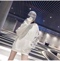 womens hoodies girls sweatshirts 2018 new pullover loose female student harajuku retro bf style ulzzang thin hoodie lazy style
